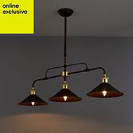 Alfie Bronze effect 3 Lamp Pendant Ceiling light