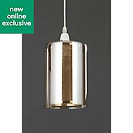 Inlight Forde Gloss Brass & champagne Mesh Light shade (D)150mm