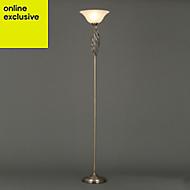 Rolli Antique brass effect Floor light