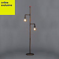 Inlight Parel Pipe Bronze effect Incandescent Floor lamp