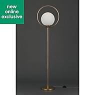 Holt Hoop Brass & opal Floor lamp