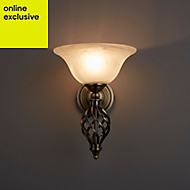 Rolli Antique brass effect Wall light