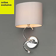 Hadwick Chrome effect Wall light