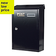 The House Nameplate Company Black Letterbox (H)360mm (W)267mm