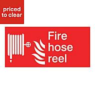 Fire hose reel Fire information sign, (H)150mm (W)200mm