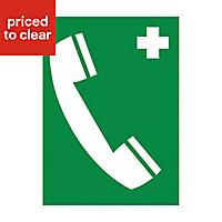 Emergency phone Self-adhesive labels, (H)200mm (W)150mm