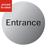 Entrance Advisory sign
