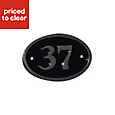Black Brass 120mm House plate number 37