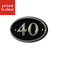 Black Brass 120mm House plate number 40