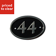 Black Brass 120mm House plate number 44
