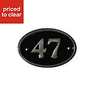 Black Brass 120mm House plate number 47