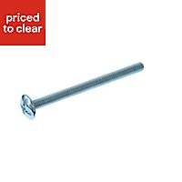 AVF Zinc effect Steel Wood furniture screw (Dia)4mm (L)50mm, Pack of 10