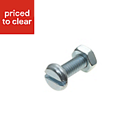 M4 Machine screw (L) 12mm (Dia) 4mm, Pack of 10