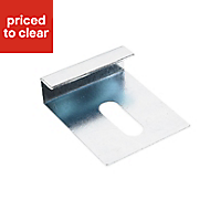 GypLyner Metal Mirror clip (L)140mm (Dia)6mm, Pack of 4