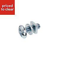 M8 Roofing bolt (L) 25mm (Dia) 8mm, Pack of 10