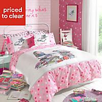Roald Dahl Matilda Pink Single Bedding set