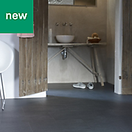 Grey Slate effect Adhesive required Vinyl tile, 4m²