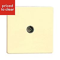 Varilight Flat White chocolate Single Coaxial socket