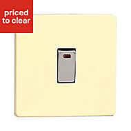 Varilight 20A 1 way Gloss white chocolate Single Switch