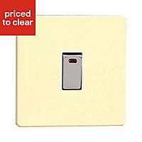 Varilight 20A 1 way Gloss white chocolate Single Switch