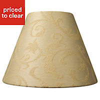 Damask Brushed Cream Candle Light shade (D)70mm