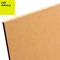 Smooth Softwood Medium-density fibreboard (MDF) Board (L)2.44m (W)1.22m (T)12mm