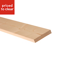 Planed Planed square edge Spruce Scant timber (L)2.4m (W)70mm (T)43mm