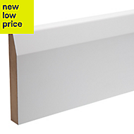 Ready painted Chamfered Skirting (T)18mm (W)119mm (L)2400mm 2