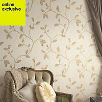 Holden Décor Lia Yellow beige Trail Wallpaper