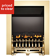 Focal Point Blenheim Brass effect Gas Fire