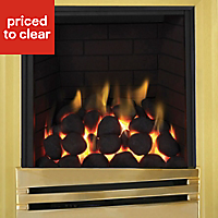 Focal Point Horizon full depth Brass effect Gas Fire