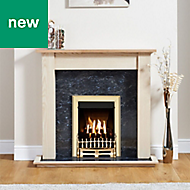 Focal Point Blenheim Brass Inset Gas fire suite