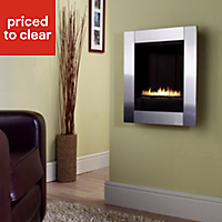 Focal Point Monet flue less Brushed stainless steel effect Gas fire