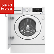 Beko WDIY854310F White Built-in Condenser Washer dryer, 8kg/5kg