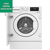 Beko WDIY854310F White Built-in Condenser Washer dryer, 8kg/5kg