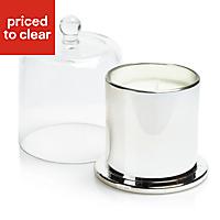 5024418914945 SKIP19D GLASS CLOCHE CANDLE CHROME EFFEC