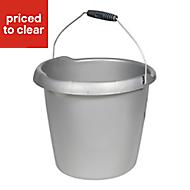 Curver Silver Plastic 10L Bucket
