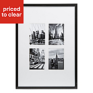 London Black & white Framed print (W)540mm (H)440mm