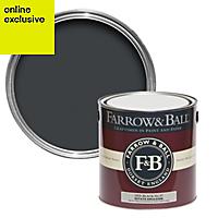 Farrow & Ball Off-black no.57 Matt Estate emulsion paint 2.5L