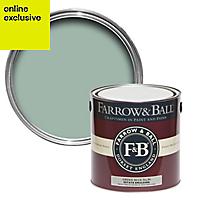 Farrow & Ball Estate Green blue No.84 Matt Emulsion paint, 2.5L