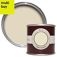 Farrow & Ball Estate Lime white No.1 Emulsion paint 0.1L Tester pot