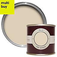 Farrow & Ball Estate Off white No.3 Emulsion paint 0.1L Tester pot