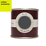 Farrow & Ball Estate Off-black No.57 Emulsion paint, 0.1L Tester pot