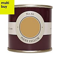 Farrow & Ball Estate India yellow No.66 Emulsion paint 0.1L Tester pot