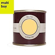 Farrow & Ball Estate Citron No.74 Emulsion paint 0.1L Tester pot