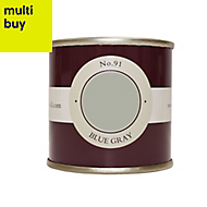 Farrow & Ball Estate Blue gray No.91 Emulsion paint 0.1L Tester pot