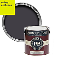 Farrow & Ball Estate Paean black No.294 Eggshell Metal & wood paint, 2.5L