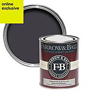 Farrow & Ball Estate Paean black No.294 Eggshell Metal & wood paint, 0.75L