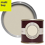 Farrow & Ball Estate Shaded white No.201 Emulsion paint 0.1L Tester pot