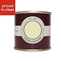 Farrow & Ball Estate Green ground No.206 Matt Emulsion paint, 0.1L Tester pot